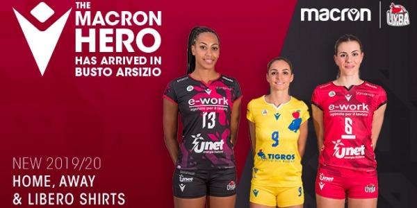 MACRON in UNET E-WORK BUSTO ARSIZIO sta predstavila drese za sezono 2019-2020